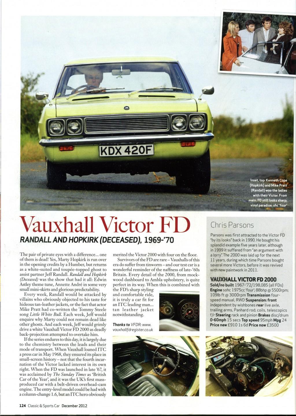 Classic U0026 Sports Car December 2012