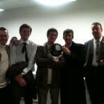 The Vauxhall FD Register accepting the trophy for 'Best Small Club Stand'